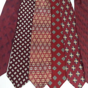 Lot of 6 Red Men's Neckties CL1085 0619